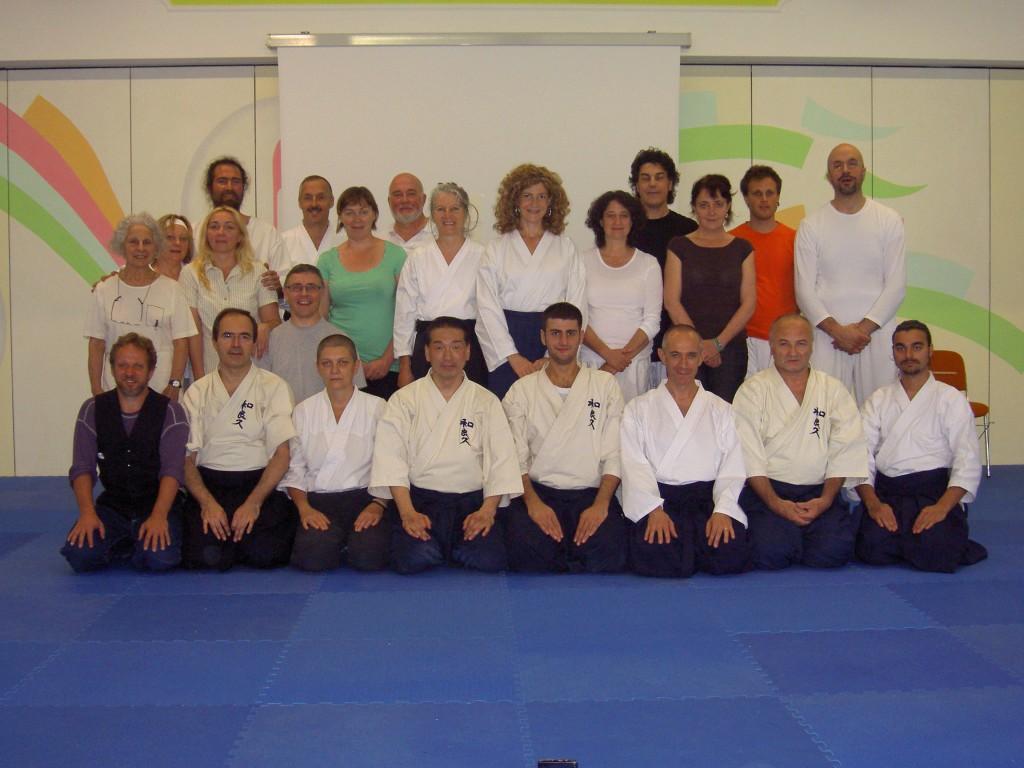 Foto di gruppo con Maeda Sensei