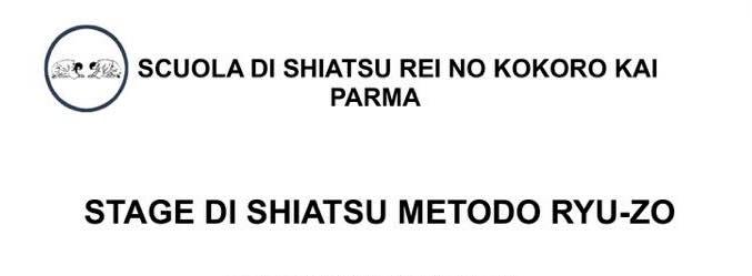 Stage di Shiatsu Ryu Zo a Parma